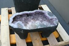 "186.01 lbs Small Amethyst Geode Table  11 5/8 "" tall  R.1334"