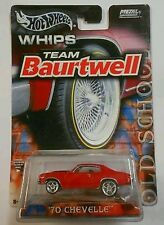 Hot Wheels WHIPS Team Baurtwell 1970 CHEVROLET CHEVY CHEVELLE 1:64 Real Riders