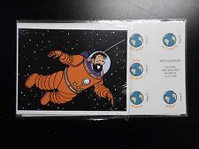 Carte anniversaire à volet + enveloppe Tintin pret à poster prépayée NEUF