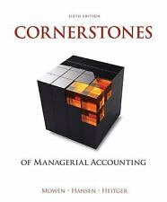 Cornerstones of Managerial Accounting (US HARDCOVER STUDENT 6th Edition)
