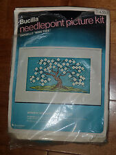 """Vintage Bucilla Needlepoint Crewel Embroidery Picture Kit """"Ming Tree"""" # 4553"""