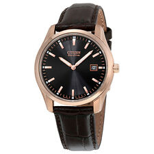 Citizen Eco Drive Brown Leather Mens Watch AU1043-00E