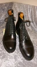 NOS DEAD STOCK 1940 40s PHILLIPS  US 9.5 D VTG mens shoes Boots Kangaroo Leather