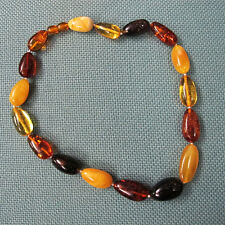 Bernsteinkette mehrfarbig Baltic Amber butterscotch multicolored necklace 38,25