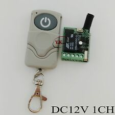DC 12V 1CH Remote Switch 10A Relay Contact Receiver Transmitter NO COM NC Mini D