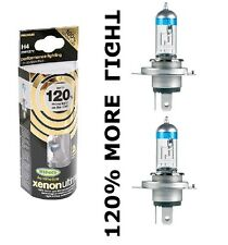 NEW H4 Ring XENON ULTIMA Car Headlight Bulbs + 120% Brighter H4  Pair
