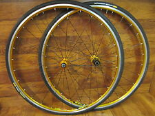 MAVIC OPEN PRO SUP CODA COMPETITION HUBS 700C CLINCHER GOLD ANODIZED WHEEL SET