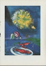 "1963 Vintage ""FISHES AT SAINT-JEAN, 1949"" MARC CHAGALL COLOR Art Lithograph"