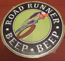 New In Plastic Road Runner Reproduction Metal Sign   Free Shipping