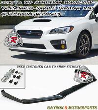 V-Limited Style Front Lip (Urethane) Fits 15-17 Subaru WRX STi