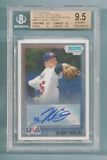 HENRY OWENS 2010 BOWMAN CHROME USA WRAPPER REDEMPTION AUTO /99 BGS 9.5 GEM MINT