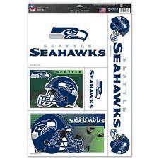 Seattle Seahawks  11 X 17 sheet of 5 Ultra Decals / Window Clings NFL