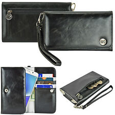 Women's Cute Wristlet Strap Clutch Card Wallet Case Cover for Smart Cell Phone