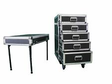 5 DRAWER Workbox w/Table HEAVY DUTY Road Case Made in USA