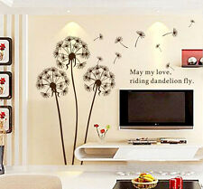 Removable Dandelion Flower Vinyl Wall Sticker Decal Mural Art Home Decor DIY
