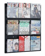 "AdirOffice Hanging Magazine Rack with Clear Acrylic Adjustable Pockets, 29""x35"""