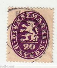 Bayern Dienst Nr.  47 gest.  Bayerischer Löwe im Oval    -v28