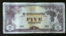 Japanese government issue dollar in Malaya 5 dollar MH  (ignored the shadow)