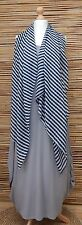 OVERSIZE LADIES/MENS SOFT STRIPES PRINT  FASHION SCARF *NAVY/WHITE*100% VISCOSE