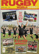 RUGBY WORLD MAGAZINE AUGUST 1988 - PERFECT GIFT FOR A FAN BORN IN THIS MONTH