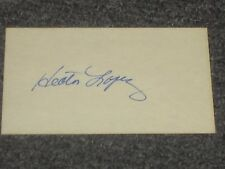 Hector Lopez Autographed Index card 3x5 JSA Auction Certified