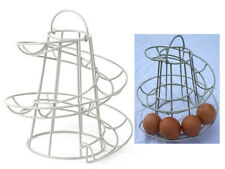 NEW HELTER SKELTER SPIRAL EGG HOLDER HOLDS 18 EGGS SWIRL STORAGE KITCHEN STAND