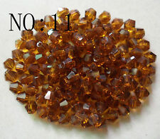 5301# 6mm Bicone Faceted Glass Crystal Loose Spacer Beads Dark Brown 200pcs