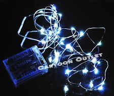 20 LED FAIRY LIGHTS BATTERY OPERATED WEDDING PARTY DECORATION 7 FEET WHITE