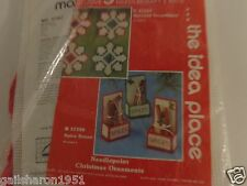 MARY MAXIM EXCLUSIVE UNIQUE  NEEDLE CRAFT KIT  CHRISTMAS ORNAMENTS TO MAKE