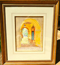 """Arthur Grover Rider LISTED early CA """"Serra Arch Mission San Juan""""prices to 254K"""