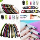 30 Colors Rolls Striping Tape Line Nail Art Tips Decoration Sticker Decals AU