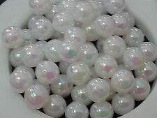 500+ wholesales 6mm WHITE opaque Round acrylic plastic loose beads