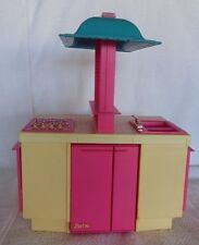 1984 Barbie Doll Dream Kitchen Set Playset with Table & Refrigerator
