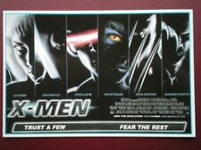 POSTCARD B12 ADVERT X-MEN QUAD POSTER
