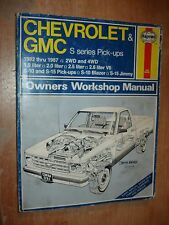 1982-1987 CHEVY GMC TRUCK SHOP MANUAL SERVICE BOOK S-10 S-15 BLAZER JIMMY 85 86