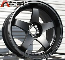 18X10/12 Rota P45R Wheels 5X114.3  Black Rims Fits 350z 370z G35 Supra Wide body