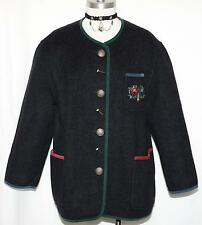 SCHNEIDERS ~ BOILED WOOL SWEATER JACKET  Women WARM Austria WINTER Walk Car L XL