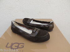 UGG ITALIAN COLLECTION CANNELITA OLIVE SUEDE LOAFERS, US 7/ EUR 38 ~ NEW