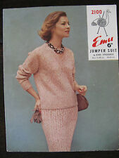 "Emu Knitting Pattern: Ladies Jumper & Skirt Suit, 34-40"", 2100"