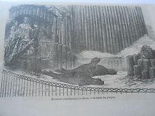 Gravure 1866 - Exposition du Havre Le Bassin des Phoques