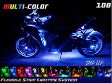 10pc Wireless Multi-Color Flexible 108 LED Motorcycle Motor Light kit!