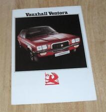 Vauxhall Ventora Brochure 1973