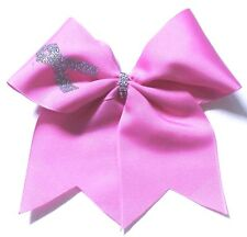 Lot of 12 Breast Cancer Awareness Cheer Bling Hair Bow Can customize!.