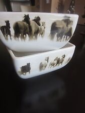 Home Branded Inc 'Unbranded' Soup Bowl Wild Horses Ranch Tony Stromberg *Lot 2*
