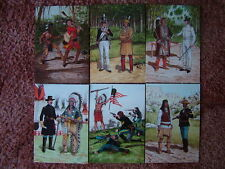 6 Card Set No 26 Military Postcards THE AMERICAN-INDIAN WARS. Mint condition.