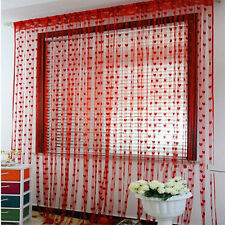 Hot Heart Line Tassel String Door Curtain Window Room Divider Curtain Valance E