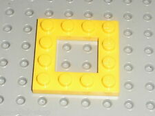 LEGO yellow Plate 4 x 4 with Open Center 2 x 2 ref 64799 / Set 8037 8079 10219