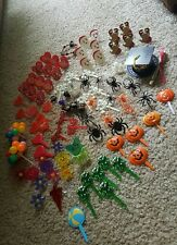 101 Piece lot Cupcake Picks, Cake Toppers, Disney, Halloween, Christmas, Vintage