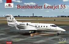 1/72 Amodel Bombardier Learjet 55 kit # 72347