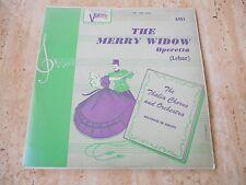 """10"""" LP """"THE MERRY WIDOW"""" THALIA CHORUS & ORCHESTRA - LEHAR"""